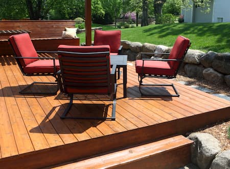 Dock and deck finishing